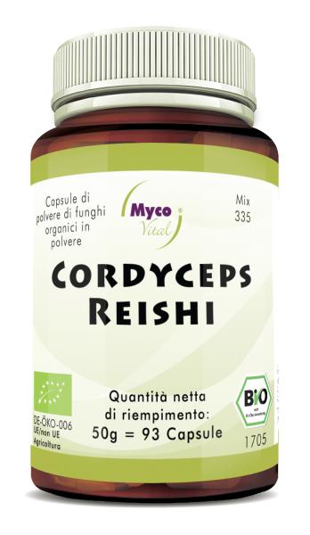Cordyceps-Reishi Capsule di polvere di funghi organici (miscela 335)