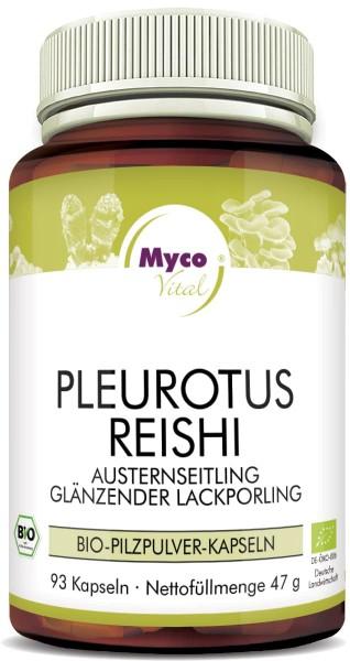 PLEUROTUS-REISHI Bio-Pilzpulver-Kapseln (Mischung 348)