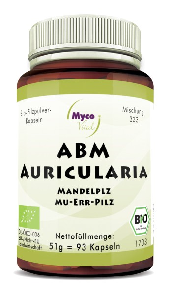 ABM-AURICULARIA organic mushroom powder capsules (Blend no. 333)