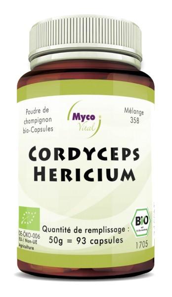Cordyceps-Hericium Capsules de poudre de champignons biologiques (mélange 358)