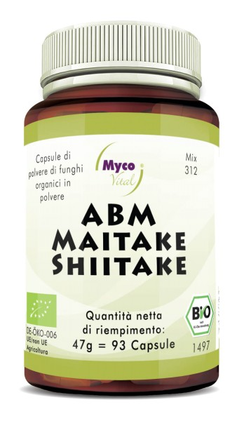 ABM-Maitake-Shiitake Capsule di polvere di funghi organici (miscela 312)
