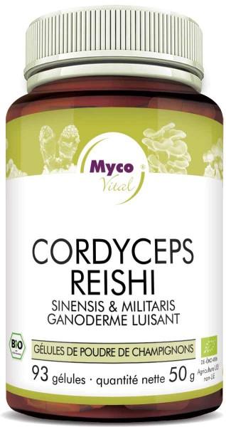 Cordyceps-Reishi Capsules de poudre de champignons biologiques (mélange 335)