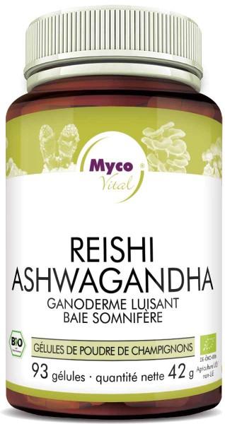 Reishi-ASHWAGANDHA capsules de poudre organique (mélange 0552)