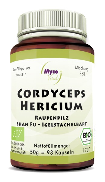 CORDYCEPS-HERICIUM Bio-Pilzpulver-Kapseln (Mischung 358)