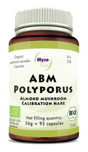 ABM-POLYPORUS organic mushroom powder capsules (Blend no. 338)
