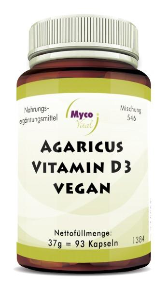 AGARICUS-VITAMIN D3 VEGAN 50µg Kapseln (Mischung 546)