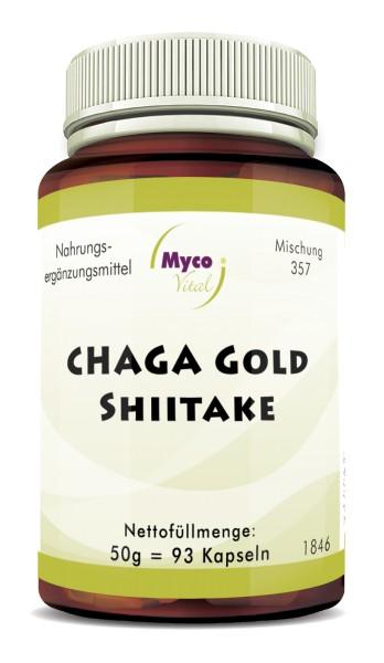 CHAGA GOLD-SHIITAKE Pilzpulver-Kapseln (Mischung 357)