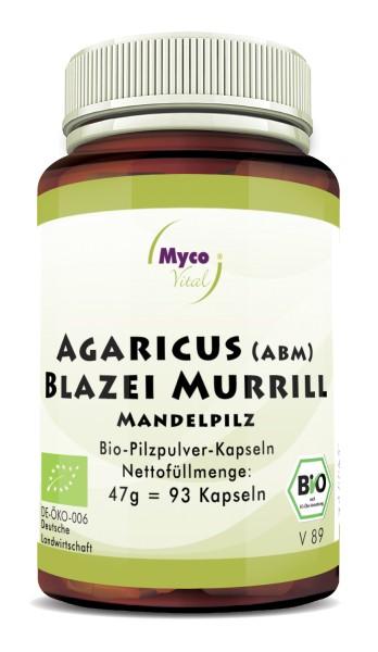 AGARICUS BLAZEI MURRILL (ABM) Bio-Vitalpilzpulver-Kapseln
